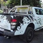 Ford Ranger matt black branding