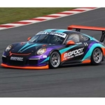 Porsche Cup race car branding