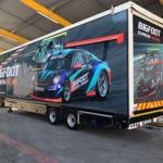 Race trailer branding